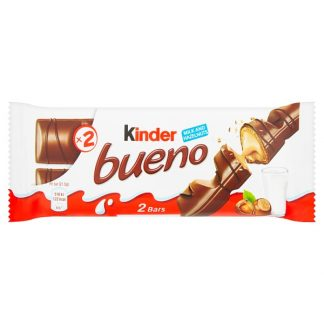 Kinder Bueno Milk Chocolate and Hazelnuts Single Bar